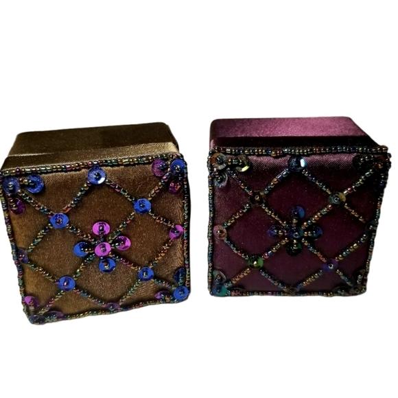 Vintage Satin Trinket Boxes